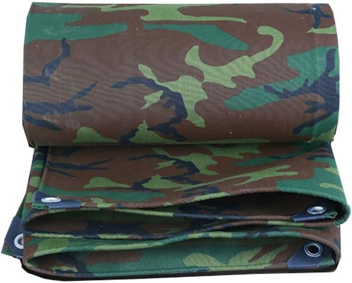 19-yiruculture 屋外テント防水シートキャンバス防水防水シートキャンプマット高温アンチエイジングテント布トラックカバー迷彩 (Color : A, サイズ : 6*8m) A 6*8m