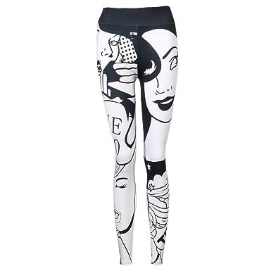 ee22256509c Women Sports Trousers Mingfa I Love Squats Girl Face Print Athletic Gym  Workout Fitness High Waist Yoga Leggings Pants White  Amazon.co.uk  Clothing