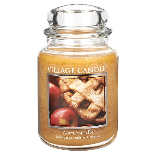 Village Candle Jar, 26-Ounce, Warm Apple Pie (Pack of 3)