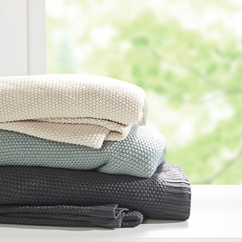 Price comparison product image INKIVY Bree Knit Blanket Charcoal Twin