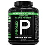 PROMIX Premium Vegan Protein + B12, Organic Complete Protein Plant Based Blend, Gluten-Free, Soy Free, 5lb Bulk