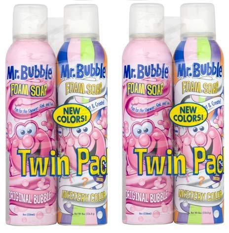 Mr. Bubble Foam Soap, Original Bubble and Mystery Color Twin Pack, 8 Oz. Each ()