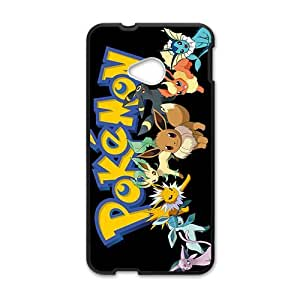 Happy Anime cartoon Pokemon durable Cell Phone Case for HTC One M7
