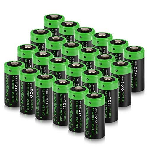 Torch Cr123a Flashlight - Energy tech CR123a 3V Lithium Battery 1600mAh 24Pack for Cameras Polaroid Flashlight Microphones Flashlight Toys Torch [Non-Rechargeable]