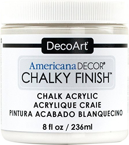 Distressed Paint Finish - Americana Décor Acrylic Chalky Finish Paint: Everlasting White, 8 oz