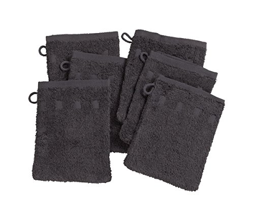 Set 6 Charcoal Wash Mitts product image