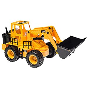 Top Race TR-113 5 Channel Full Functional Front Loader, Electric RC Remote Control Construction Tractor with Lights & Sounds