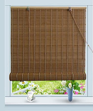 bamboo roller blinds 180cm roll up window blind sun shade uk made to measure