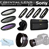 Essential Lens Kit For Sony NEX-F3, NEX-7, NEX-5N, NEX-5, NEX-3, NEX-C3, NE ....