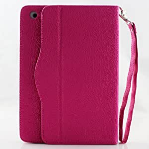 Route 66 Hot Pink iPad Mini Leather Smart Cover Stand