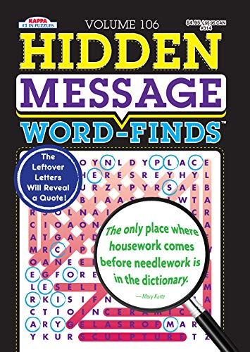 Hidden Message Word-Finds Puzzle Book-Word Search Volume 106