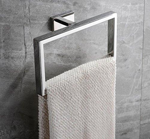 Toallero 304 De Acero Inoxidable Cuadrado Mejoras para El Hogar Hotel Toalla Anillo Baño Hardware Accesorios