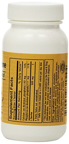 Botanic Choice L-Taurine, 500 mg., 60 tablet Bottle (Pack of 20)
