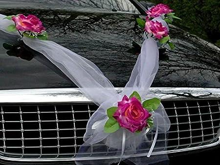 Organza M Corazones Auto joyas Novios decoraci/ón de rosas Decoraci/ón auto joyas boda Car Auto Wedding guirnalda ratan Autom/óviles