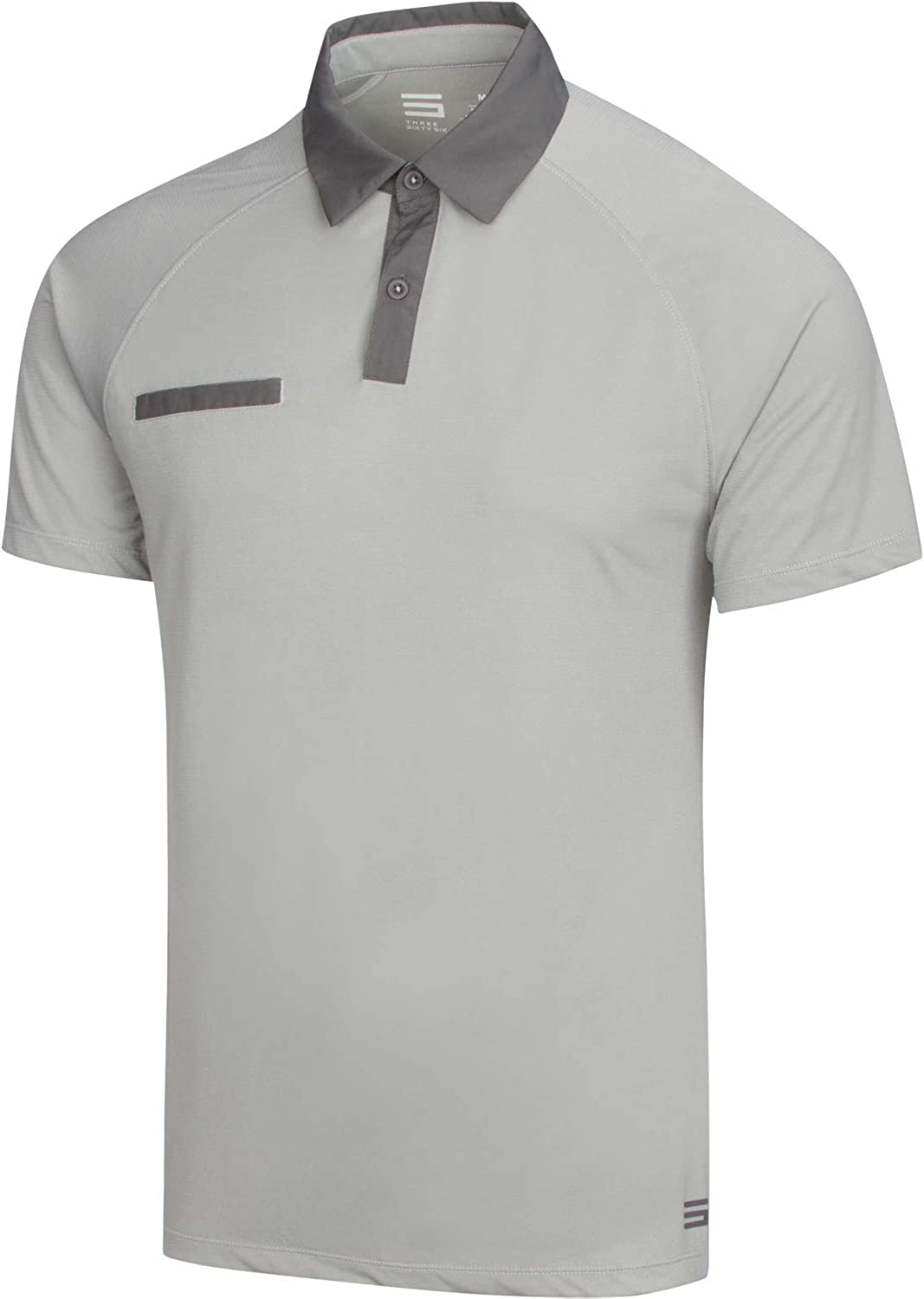 Dry Fit Golf Shirts for Men - Contrast Collared Mens Polo Shirt, Short Sleeve and Breathable