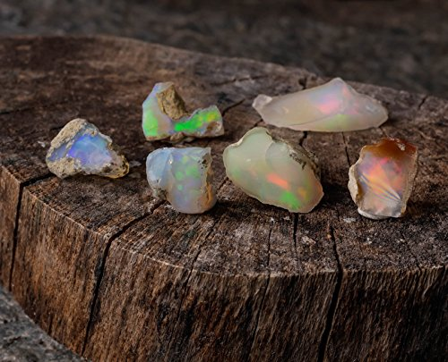 Raw Opal Crystals - Genuine Natural AA Grade Opal 5 Gram Lot, Reiki Crystals and Healing Stones E0088-5