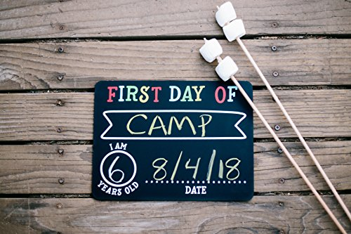 Pearhead First and Last Day of School Photo Sharing Chalkboard Signs; The Perfect Back to School Chalkboard Sign to Commemorate The First Day of School, Set of 2 by Pearhead (Image #1)