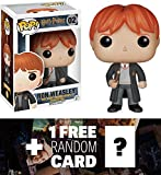 Ron Weasley: Funko POP! x Harry Potter Vinyl Figure + 1 FREE Official Harry Potter Trading Card Bundle [58593]