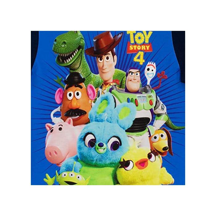 51d2MrTHVfL Camiseta para niños de Toy Story. Ya sea que tu pequeño quiera ser un vaquero o un guardián espacial, este estará muy feliz de usar esta camiseta de Toy Story. Frente: Panel 100% poliéster, espalda y mangas 100% algodón.