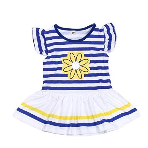 as Ni pantal Conjunto Adeshop flores os Camisa Ni a 2pcs con Margarita rayas de UIUqpBx