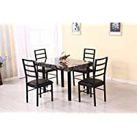 Hodedah Import 5Piece Dinette Set