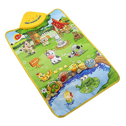 Owfeel Dream Farm Land Play wall hanging Musical Carpet Baby Play Mat (Babies Hanging Farm Wall)