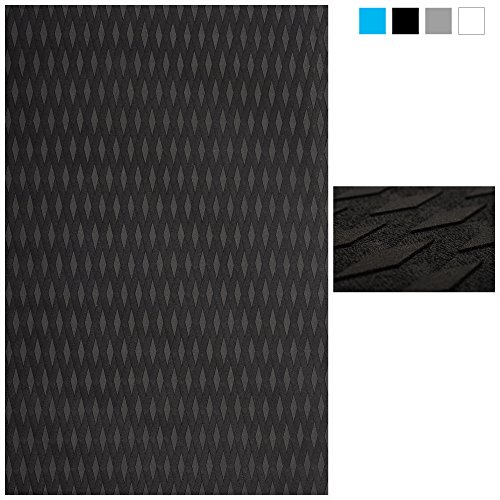 Abahub Non-Slip Traction Pad Deck Grip Mat 30in x 20in Trimmable EVA Sheet 3M Adhesive for Boat Black