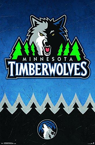 Trends International Minnesota Timberwolves Logo Wall Poster