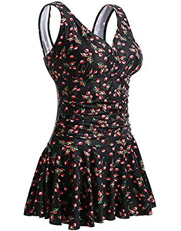 e5ba71965b MiYang Women's Plus-Size Flower Printing Shaping Body One Piece Swim  Dresses Swimsuit