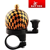 Batfox Bicycle Bell - Vintage Bike Bell for Outdoor Riding or Mountain Cycling Aluminum Alloy Bike Bell Loud Crisp Clear Sound Bike Ring Horn Accessories