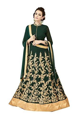 Da Facioun Traditonal Verde Salwar Etnica Progettista Donne Indiane Partywear Kameez rRqwTrO