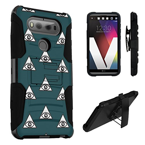 LG V20 Case, DuroCase Hybrid Dual Layer Combat Armor Style Kickstand Case w/ Belt Clip Holster Combo for LG V20 (Released in 2016) - (Eye Of Providence - Providence In Mall