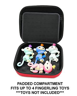 KIDCASE Travel Carry Case Fits Fingerlings Baby Monkey Collector Toys – The Fun Way To Store Your Children's Play Set Collection from CASEMATIX