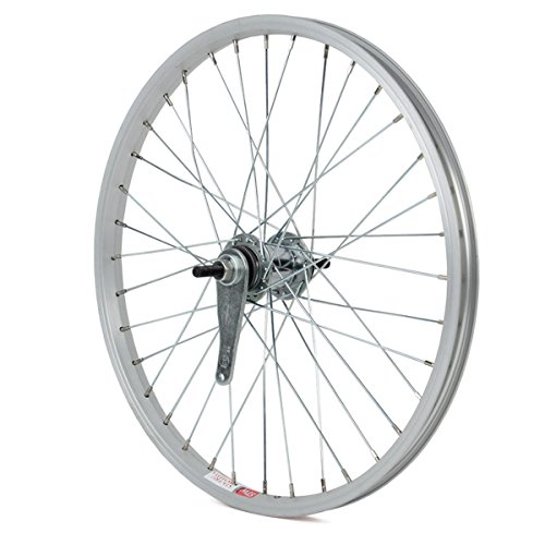 Sta-Tru Silver Steel 1 Speed Coaster Brake Hub Rear Wheel (20X1.5-Inch)