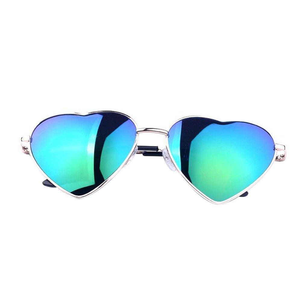 OULII Lens Sunglasses Metall aus Metall Polarisierte Aviator Gespiegelt fü r Frauen - Grü n KLO0107701451OCQM
