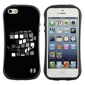 "Hypernova Slim Fit Dual Barniz Protector Caso Case Funda Para Apple iPhone SE / iPhone 5 / iPhone 5S [Cubo de Rubik minimalista""]"