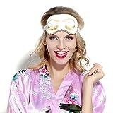 BABEYOND Sleeping Eye Mask for Women Cute Eye Mask Sleeping Beauty Eye Mask Eye Cover Mask Sleep Mask (White)