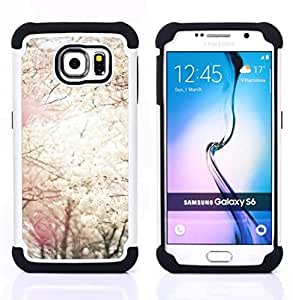 "Pulsar ( Sun Spring Blossom árboles de cerezo Naturaleza"" ) Samsung Galaxy S6 / SM-G920 SM-G920 híbrida Heavy Duty Impact pesado deber de protección a los choques caso Carcasa de parachoques [Ne"