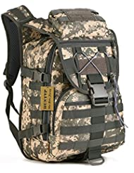 Huntvp 40L Tactical Daypack MOLLE Assault Backpack Pack Military Gear Rucksack Large Waterproof Bag Sport Outdoor...