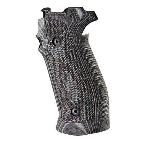 Hogue Sig P226 DA/SA Magrip Piranha G10 G-Mascus Grip, Black/Grey