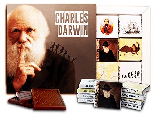 DA CHOCOLATE Candy Souvenir Charles Darwin Chocolate Set 5x5 1 box (Finger)