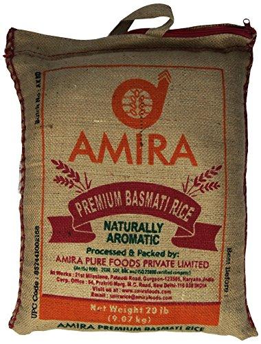 Amira Premium Basmati Rice Jute  20 Pound