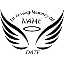 "CUSTOM DESIGN ""In Memory Of"" - Die Cut Decal Sticker Decal, Windows, Cars, Trucks, Etc. - 15 Color Options"