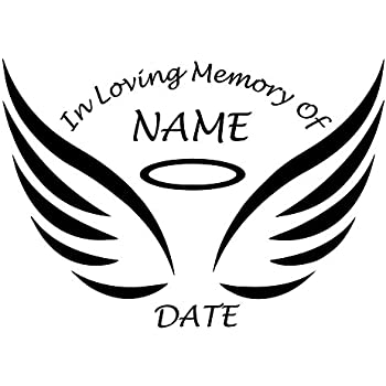 Amazon Custom Design In Memory Of Die Cut Decal Sticker