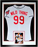 Charlie Sheen Signed Cleveland Indians Major League Wild Thing Jersey - PSA DNA COA Authenticated - Custom Framed & 8x10 Photo 34x42