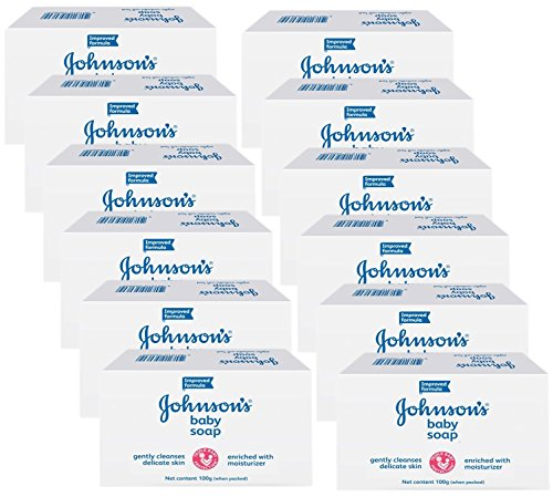 Johnson's - Johnson & Johnson Baby Soap Gentle 3.5 Oz. 100 G (Pk of 12) - Johnsons Baby Soap Bar