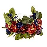 Love Sweety Rose Flower Headband Floral Crown Garland Halo (Royal Blue)