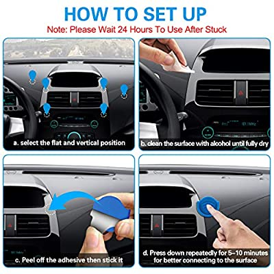 Phone Grip for Socket Holder, pop-tech 2 Pack Silicone Car Phone Mount Adhesive for Collapsible Grip & Stand with 3M Adhesive Replacement for Car Dashboard, Desk, Wall, Home, Office and More Blue