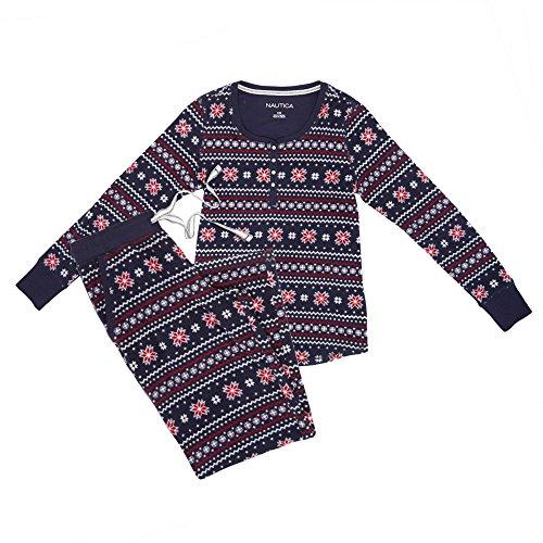 Nautica-Womens-Plus-Size-Microfleece-Pajama-Set