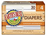 Earths Best Chlorine-Free Diapers, Size 4, 120 Count
